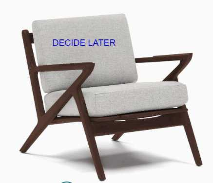 """Soto Concave Arm Chair - """"Decide Later"""" fabric - Joybird"""
