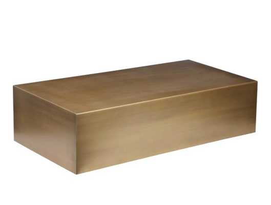 Spencer Coffee Table, Brushed Brass - High Fashion Home