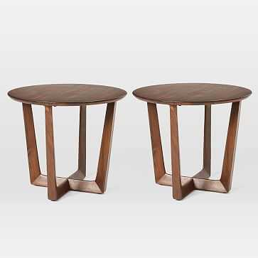 Stowe Side Table, Dark Walnut, Set of 2 - West Elm