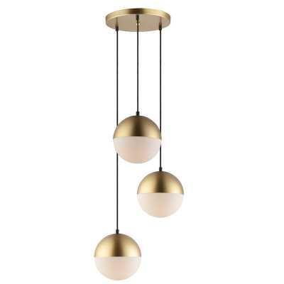 Leduc 3 - Light Cluster Globe Pendant - AllModern