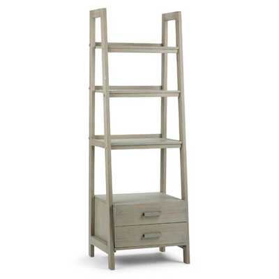 Ine Ladder Bookcase- Distressed Gray - Wayfair