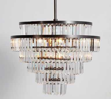 Gemma Crystal Tiered Chandelier, Large - Pottery Barn