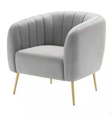 eLuxury Modern Channel Accent Chair in Gray - Target