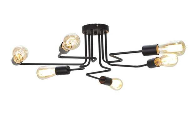 Awilda Modern Iron 6-Light Sputnik Chandelier - AllModern