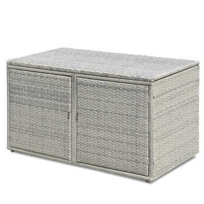 Celise Garden Patio Rattan Storage Bench - Wayfair