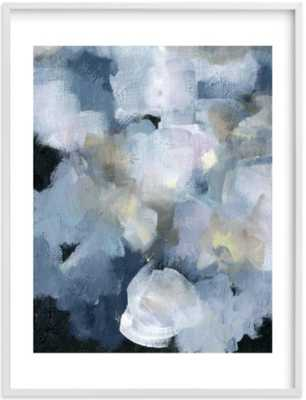 "Imblue 30"" x 40"" White Wood Frame White Border - Minted"