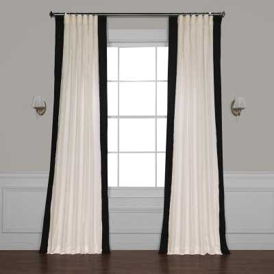 "Winsor Semi-Sheer Rod Pocket Single Curtain Panel - Black, 50""W x 108""L - Wayfair"