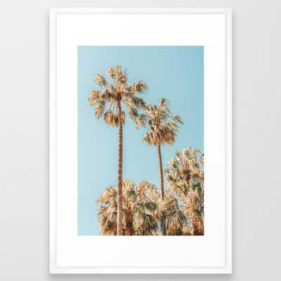 Palm Trees, Summer Vibes Print, Coconut Palm Tree, Beach Palm, Beach Print, Palm Beach Miami Florida Summer Vibe, Green Palm Leaves Framed Art Print - Society6