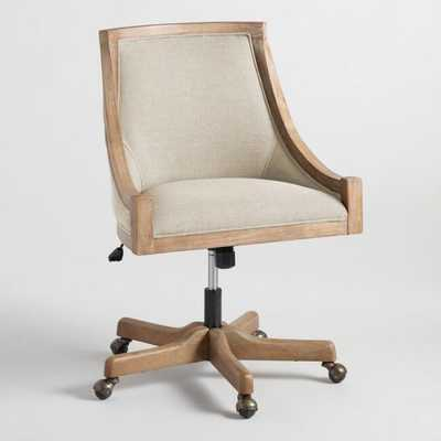 Natural Linen Henry Upholstered Office Chair by World Market - World Market/Cost Plus