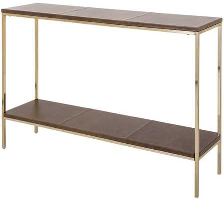 NAKASA LEATHER CONSOLE TABLE - Perigold