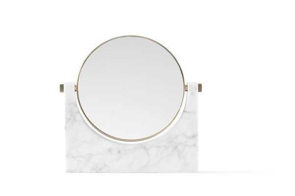 Pepe Marble Mirror in White design by Menu - Burke Decor