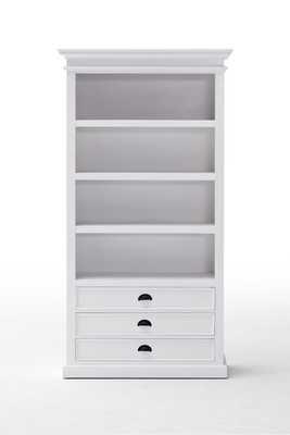 "Sorrento 74.8"" H x 39.37"" W Solid Wood Standard Bookcas - Wayfair"