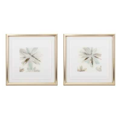 TY Floral Floating Acrylic Framed Wall Decor - Ast 2 - Mercer Collection