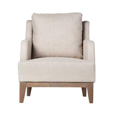 Alexander Linen Armchair - Wayfair