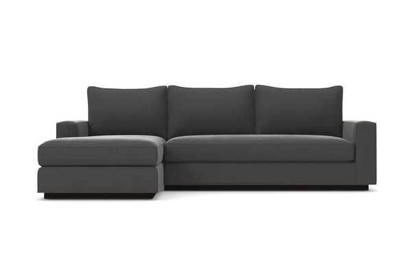 Harper 2pc Sectional Sofa/ Thunder / Espresso / LAF Chaise on the Left - Apt2B