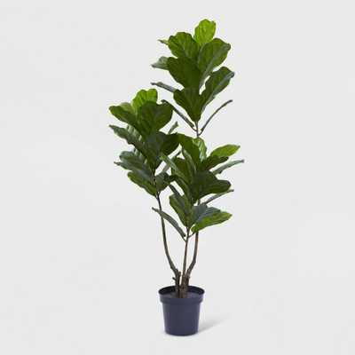 65 Fiddle Leaf Tree UV Resistant - Nearly Natural, Green - Target