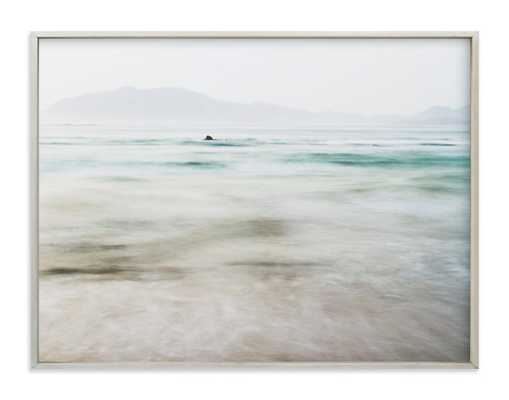 "The Pacific - 40"" x 30"", champagne silver frame - Minted"