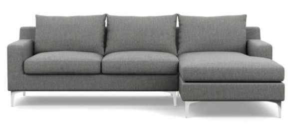 SLOAN Sectional Sofa with Right Chaise - Dove Chrome - Interior Define