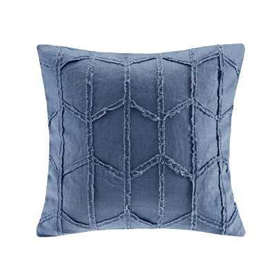 Frayed Geo Linen Throw Pillow - Birch Lane