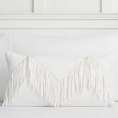 The Emily & Meritt Fringe Lumbar Pillow Covers - Pottery Barn Teen