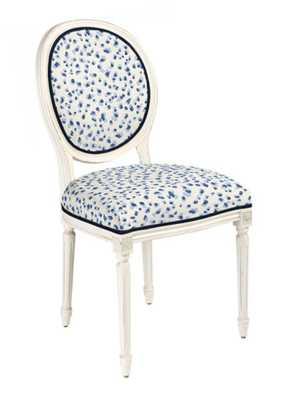 Oval Back Louis XVI Side Chair - Mira Blue - Ballard Designs