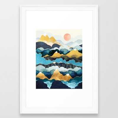 Cloud Peaks Framed Art Print by SpaceFrogDesigns - Society6
