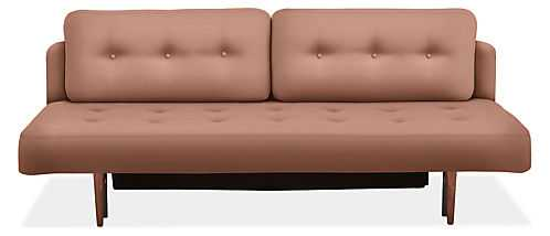 Deco Convertible Sleeper in Thera blush - Room & Board