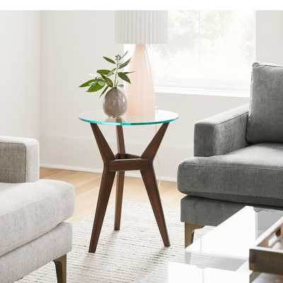 Jensen Round Side Table - Glass - West Elm