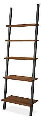 Gallery Leaning Shelf - Walnut, Natural Steel - Room & Board