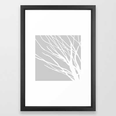 Gray Blues Framed Art Print - Society6