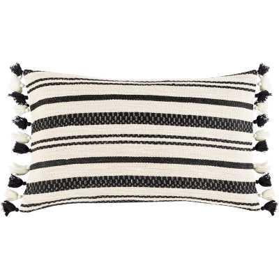 Rankins Cotton Striped Lumbar Pillow with down fill - AllModern