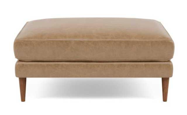 "CAITLIN Leather Ottoman - 33"" - Interior Define"