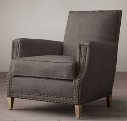 MARCEL CLUB CHAIR in Belgian Linen Charcoal - RH