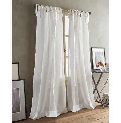 Paradox Back Tab Solid Sheer Curtain Panels-Set of 2 - Wayfair