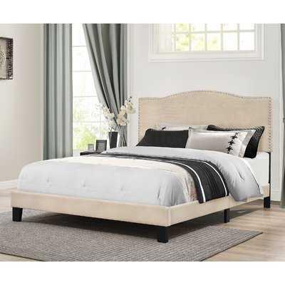 Upholstered Standard Bed, King Linen - Wayfair