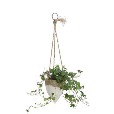 Mistana Jani Stoneware Hanging Planter - Wayfair