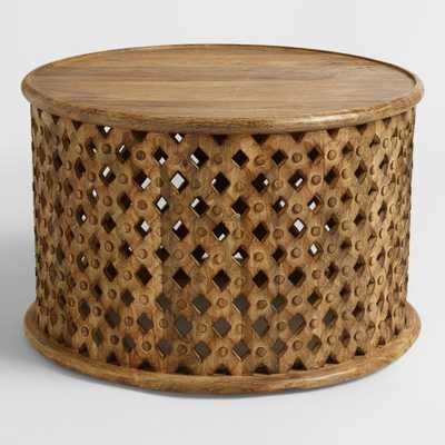 Tribal Carved Coffee Table: Brown - Wood by World Market - World Market/Cost Plus