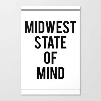 MIDWEST STATE OF MIND Canvas Print - Society6