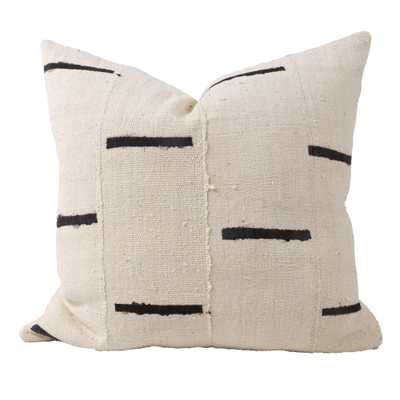 "RAINEY ONE OF A KIND MUDCLOTH PILLOW, IVORY, 22"" x 22"" - Lulu and Georgia"