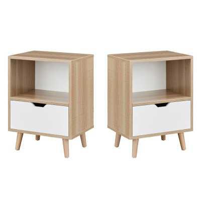 Kiersten 1 - Drawer Nightstand in White (Set of 2) - Wayfair