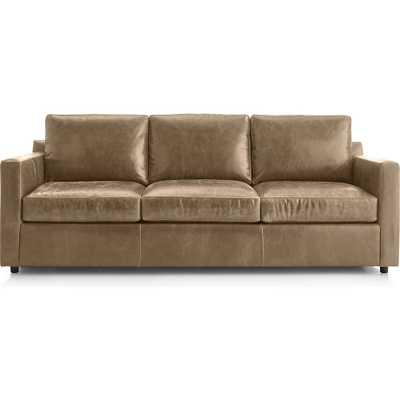 Barrett Leather 3-Seat Track Arm Sofa - Crate and Barrel