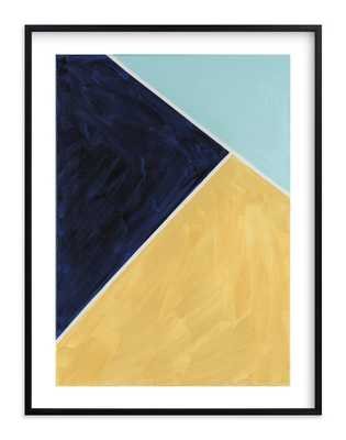 """Continental 30 x 40"""" black frame, white boarder - Minted"""
