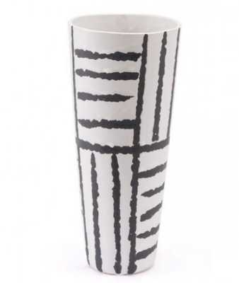 Croma Sm Vase Black & White - Zuri Studios