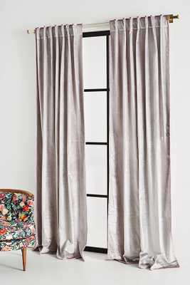 Petra Velvet Curtains, Set of 2 Light Grey - Anthropologie