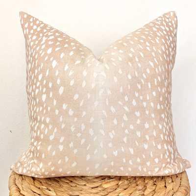 "Antelope Pillow Cover - Blush - 18"" x 18"" - Willa Skye"