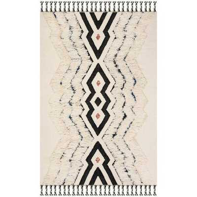 Lizette Hand-Knotted Wool/Cotton Ivory Area Rug 8x10 - Wayfair