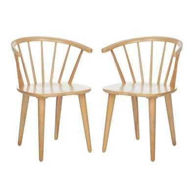 Spindle Windsor Back Arm Chair (Set of 2) - Wayfair