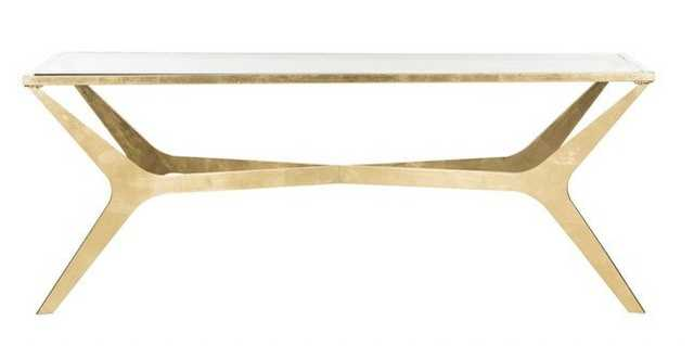 Edythe Coffee Table - Gold/Clear - Arlo Home - Arlo Home