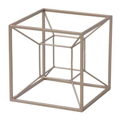 Moncada Tesseract Shaped Table Sculpture - Wayfair