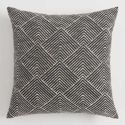 Geometric Angle Jacquard Throw Pillow: Black by World Market - World Market/Cost Plus